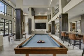 Pool table in lounge at Windsor Preston, TX, 75024