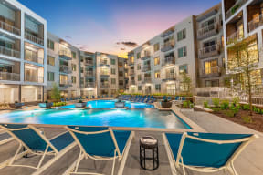 Resort style pool at Windsor Preston, 7950 Preston Road, Plano