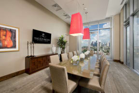 Private Dining Room, at The Sovereign at Regent Square, 3233 West Dallas, Houston, 77019