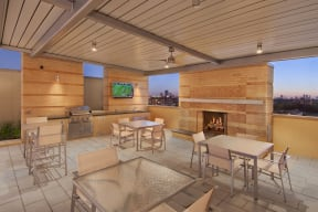 Relax at the Barbecue Pavilion, at The Sovereign at Regent Square, 3233 West Dallas, TX