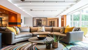 Resident clubroom at The Ridgewood by Windsor, Fairfax, VA