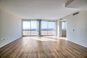 Open floor plans at Sea Castle, Santa Monica