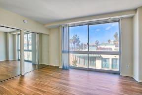 Large bedroom with spacious closet at Sea Castle, Santa Monica