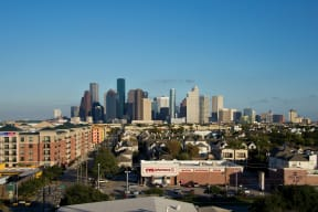 Day time view of Downtown Houston, at The Sovereign at Regent Square, TX