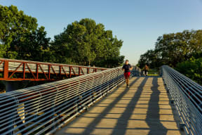 Bike, run or walk along the Buffalo Bayou, at The Sovereign at Regent Square, 3233 West Dallas, Houston, TX