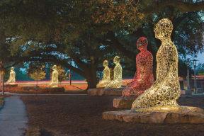 Plensa's Tolerance sculptures celebrate diversity in Houston, at The Sovereign at Regent Square, 3233 West Dallas, Houston, 77019