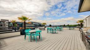 Rooftop grilling at Tera Apartments, 98033, WA