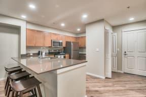 Fully Equipped Kitchen at Tera Apartments, 98033, WA