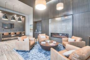 Newly Renovated Resident Lounge at Tera Apartments, 528 Central Way, Kirkland