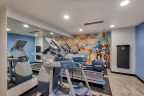 Cardio machines at Terraces at Paseo Colorado