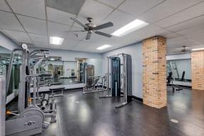Weight room at Terraces at Paseo Colorado