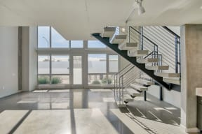 Select townhomes feature concrete floors