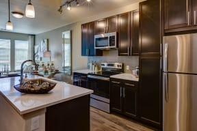 Upscale cabinetry at Windsor at Pinehurst, CO, 80235