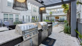 Courtyard Grilling Stations at Windsor West Lemmon, 3650 Cedar plaza Lane, TX