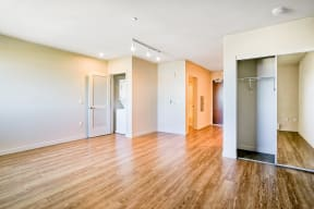 Wood plank flooring at Dogpatch, San Francisco
