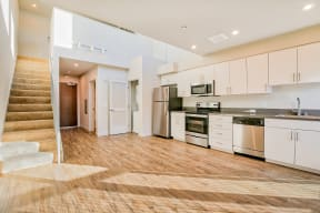 Open concept floor plan at Dogpatch, San Francisco