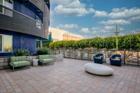 Outdoor community spaces at Dogpatch, San Francisco