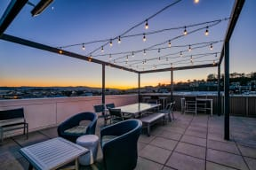 Roof deck at Dogpatch, San Francisco