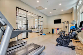 Fitness center at Windsor at Oak Grove in MA