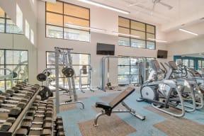 Fitness center at Windsor Ridge Austin