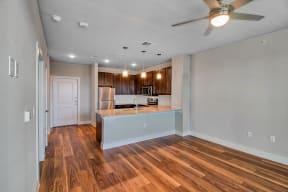 Open concept floor plan at Windsor Ridge Austin