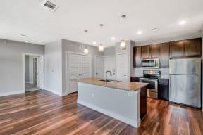 Spacious kitchen with island at Windsor Ridge Austin