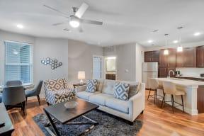 Large living area at Windsor Ridge Austin