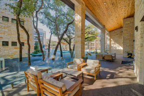 Outdoor patio area at Windsor Ridge Austin