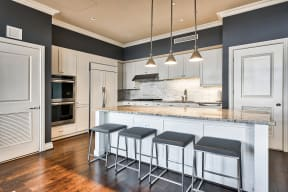Kitchen island at The Woodley, 2700 Woodley Road, NW, 20008