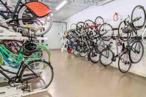 Burnside 26 in Portland, OR bike storage room