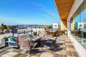 Burnside 26 in Portland, OR sky lounge deck
