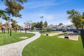 Walking path and activity area
