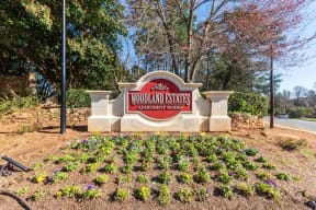 Property entrance sign