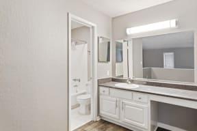 Model master bathroom