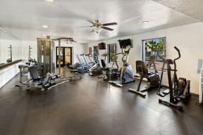 Fitness center with state-of-the-art machines
