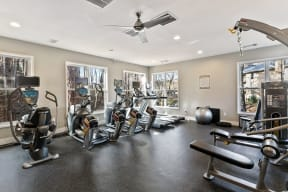 Fitness Center Cardio and Weight Machines