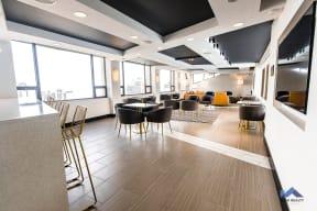 Two East Oak Tenant Lounge Modern Communal Seating