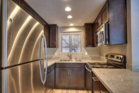 Larkspur CA Apartments for Rent - Larkspur Courts Upgrade Kitchen with Plenty of Countertops, Stainless Steel Appliances, and Much More