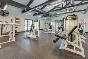 weighted machines in fitness center
