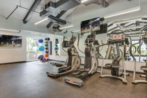 Apartments for Rent Chatsworth CA - Spacious Fitness Center Featuring Various Cario Machines
