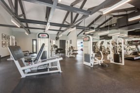 cardio machines and weighted machines in fitness center