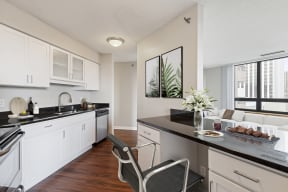 Galtier Towers Apartments in Downtown St. Paul Kitchen