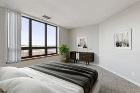 Galtier Towers Apartments in Lowertown St. Paul Bedroom