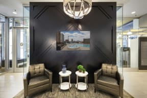 Galtier Towers Apartments in Lowertown, St. Paul, MN Exquisite Lobby