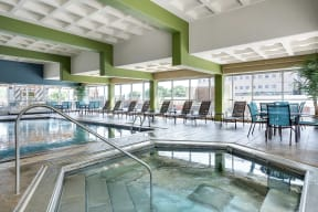 Kellogg Square Apartments in St. Paul, MN Indoor Pool Whirlpool