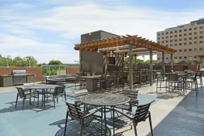 Kellogg Square Apartments in St. Paul, MN 36,020 Square Foot Rooftop Sundeck