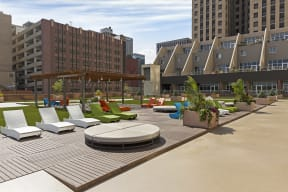 Kellogg Square Apartments in St. Paul, MN Rooftop Sundeck
