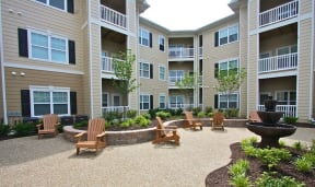 Beautiful Surrounding with Seating Arrangement at Aventura at Forest Park, Missouri, 63110