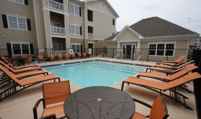 Swimming Pool With Relaxing Sundecks at Aventura at Forest Park, Missouri