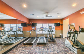 Fitness Center with Cardio Equipment at Aventura at Forest Park, St. Louis, 63110